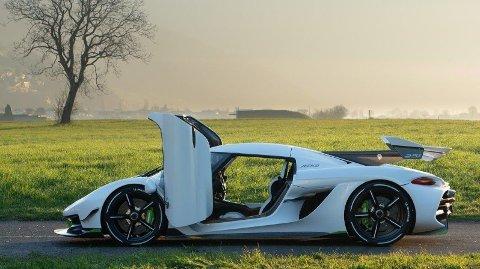 Slik ser hyperbilen Koenigsegg Jesko ut. I alle fall prototypen. Planen er at produksjonsmodellen skal vises under bilutstillingen i Genéve om kort tid.