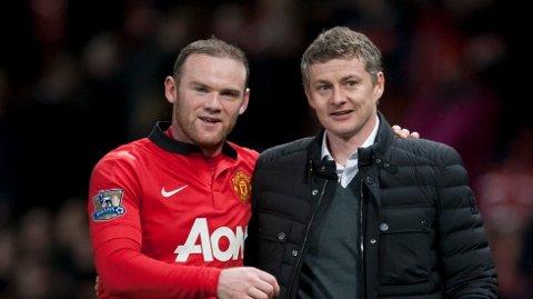 LAGKAMERATER: Wayne Rooney og Ole Gunnar Solskjær var lagkamerater i United mellom 2004 og 2007.