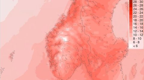 30 GRADER? Det blir varmere og varmere utover i uka, og flere steder kan det blir 30 grader.