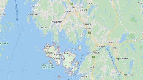 ULYKKE: En person er skadd etter at en båt kantret ved Hvaler.