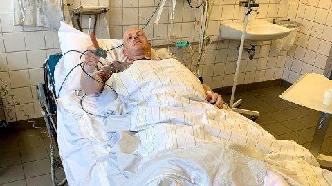 ULYKKE: Det var ren og skjær flaks som førte til at Steinar Bjerkmann ikke ble mer alvorlig skadd i ulykken. Bilde brukes med tillatelse.