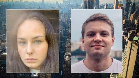 OPPRØRTE: Natalie Rønning Abdala og Jon Magnus Skaret er blant studentene som fortsatt venter på store pengebeløp fra den norske utleieren New York Next.