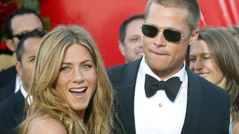 FØRSTE GANG SIDEN SKILSMISSEN: Jennifer Aniston og Brad Pitt skal jobbe sammen for første gang siden skilsmissen. Sist de var på skjermen sammen var i 2001.