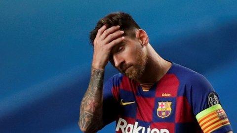 FORLATER KLUBBEN?: Lionel Messi kan være på vei bort fra Barcelona.