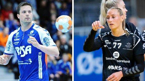 EKTEPAR: Steffen Stegavik er nybakt Sola-trener, og kona Camilla Herrem er lagets stjerne og kaptein.