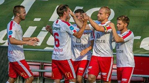Henrik Kjelsrud Johansen er toppscorer i Fredrikstad med ni mål. Foto: Fredrikstad Blad