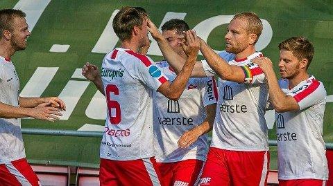 Henrik Kjelsrud Johansen er toppscorer hos FFK med ti mål. Syv av dem har kommet på bortebane.Foto: Fredrikstad Blad