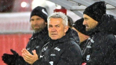 Branns trener Kåre Ingebrigtsen under eliteseriekampen i fotball mellom Brann og Stabæk på Brann stadion. Foto: Marit Hommedal / NTB