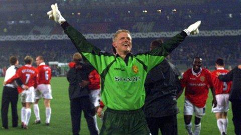 KEEPER-HELT: Peter Schmeichel kunne ikke drømt om en bedre avslutning på sin United-karriere.