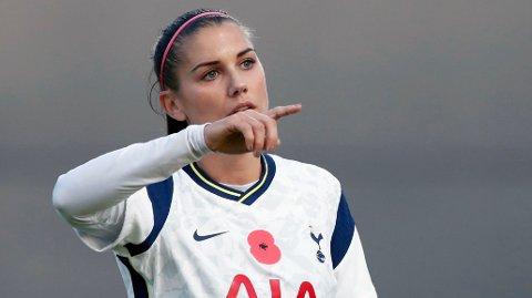 VAKTE OPPSIKT: Det vakte stor oppsikt da Tottenham hentet den amerikanske stjernespilleren Alex Morgan til klubben på et låneopphold.