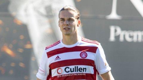 Markus Fjørtoft spilte for Hamilton sist sesong. Nå spiller han for Championship-klubbenGreenock Morton.