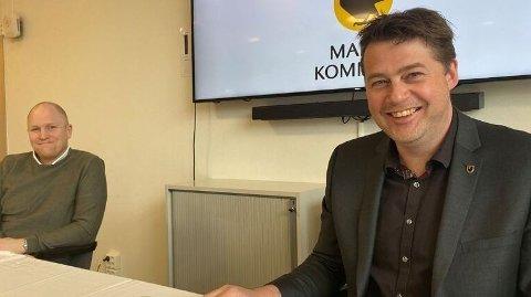 Ordfører i Malvik kommune, Trond Hoseth (t.h.), har blitt utsatt for svindelforsøk. Her sammen med kommuneoverlege Realf Ording Helgesen (t.v.).