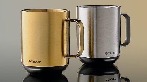 Den nye varianten av smartkrusene fås i rustfritt stål og gull.