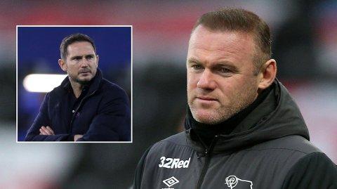 DERBY-SJEF: Wayne Rooney mener Chelsea burde gitt Frank Lampard (innfelt) mer tid før de sparket ham.