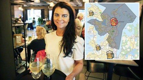 MANGE BESTILLINGER: Christel Thulin, daglig leder for spisestedet Delikatessen, melder om fullt hus på fredag og lørdag etter at Sandnes åpnet for skjenking igjen.