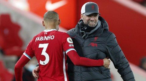 Jürgen Klopp kan glede seg over at Fabinho er tilbake til torsdagens hjemmekamp mot Chelsea.
