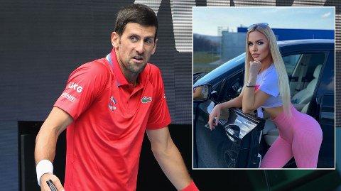 SEXFELLE: Den serbiske modellen Natalija Scekic hevder hun skulle få et stort pengebeløp for å sette tennisstjernen Novak Djokovic i en sexfelle.