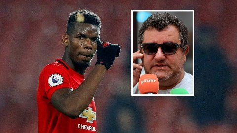 DUO: Paul Pogba og hans agent Mino Raiola.