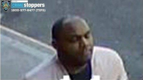 Denne mannen er nå arrestert for angrepet på den asiatiske kvinnen på Manhattan. Foto: Twitter: NYPD Crime Stoppers