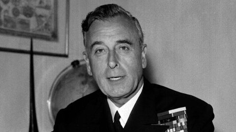 DREPT:Lord Louis Mountbatten, prins Philips onkel.