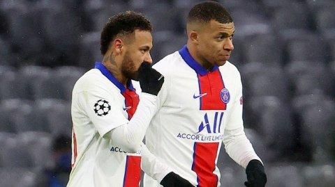Kylian Mbappe scoret to mål mot Bayern München i kvartfinalen. Han er toppscorer for PSG i Champions League med åtte mål. Neymar er ikke stort dårligere. Han har scoret seks mål i turneringen.