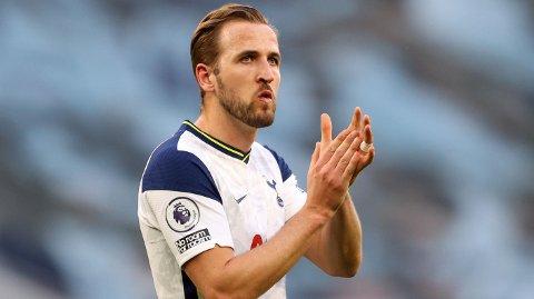 USIKKER FRAMTID: Harry Kane går en usikker sommer i møte som Tottenham-spiller.