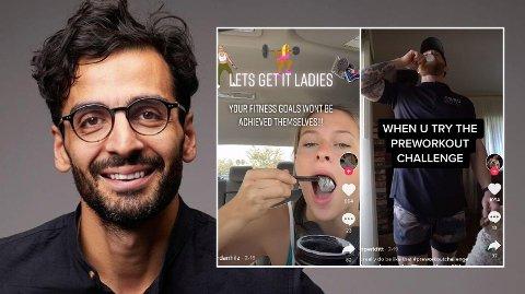 BARE TULL: Lege Kaveh Rashidi mener TikTok-trenden om pre workout bare er tull, og har ingen effekt.