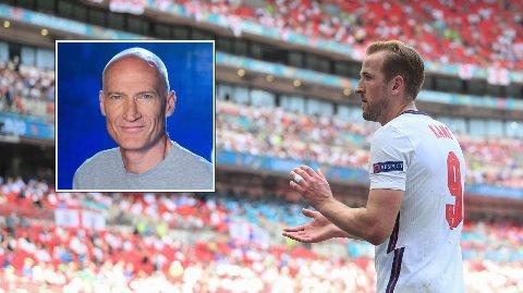 TROR PÅ OVERGANG: Erik Thorstvedt forventer at Harry Kane forsvinner fra Tottenham i sommer.