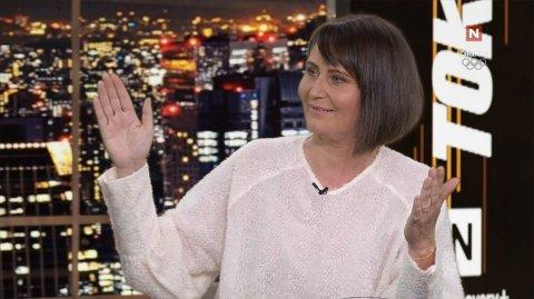 COMEBACK: Mangeårig NRK-profil Line Andersen var tilbake på TV som gjest i OL-studio hos Discovery+/TVNorge onsdag ettermiddag.