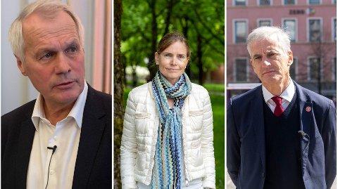 Salmar-milliardæren Gustav Witzøe(t.h) hadde måtte skatte betydelig mer hvis havbruksutvalgets skatteforslag ledet av økonomen Karen Helene Ulltveit- Moes hadde blitt vedtatt i 2019.