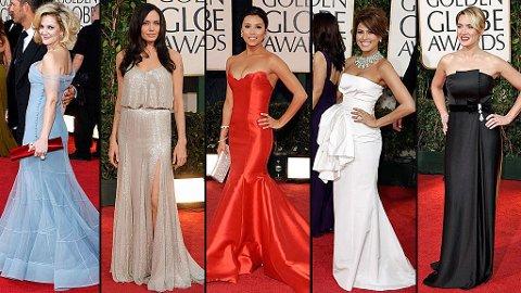 GLAMORØSE: Drew Barrymore, Angelina Jolie, Eva Longoria Parker, Kate Winslet og Eva Mendes strålte på den røde løperen.