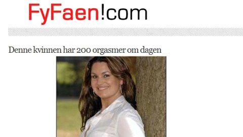 BLOGGSUKSESS: Fyfaen.com har stor suksess ved å blogge om orgasmesykdommer og andre utrolige historier.