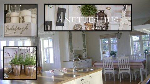 KLASSISK INTERIØR: I bloggen Anettes Hus kan du hente inspirasjon til husbygging, interiør og pynting.