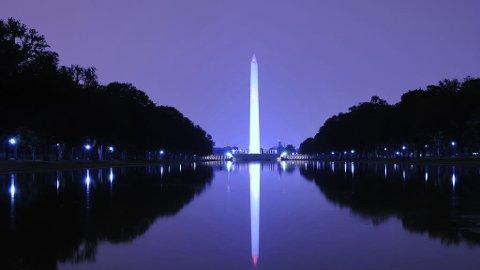 BYSYMBOL: Washington Monument ble reist til ære for USAs første president, George Washington, og er et av de største symbolene for byen Washington D.C.