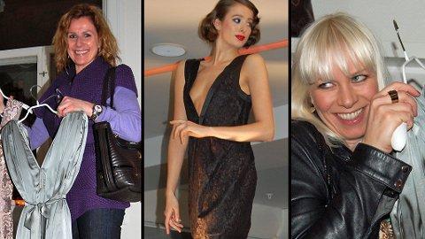 FLOTT DESIGN: Karita Bekkemellem og Mariann Aas Hansen falt pladask for Undorns kjoler. I midten kjole fra neste vinters kolleksjon.