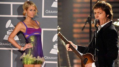 SØT MUSIKK? Paris Hilton vil veldig gjerne synge duett med Sir Paul McCartney. Men Macca må sjekke avtaleboka først.