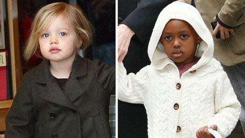PÅ SHOPPING: Shiloh og Zahara var alene med mamma Angelina i New York.