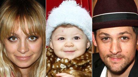 LIKE: Harlow (13 mnd) ligner på foreldrene sine, Nicole Richie (28) og Joel Madden (29).