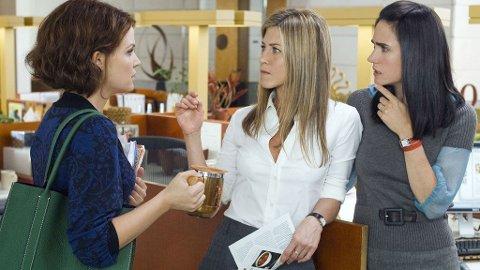 MANNEPROBLEMER: Ginnifer Goodwin, Jennifer Anniston og Jennifer Connelly diskuterer menn i «Han er bare ikke interessert».