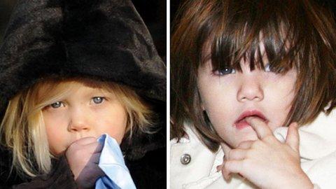 SØTE: Shiloh og Suri ligger i teten av Hollywoods søteste kjendisbarn.