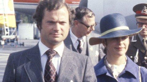 HEMMELIG: Silvia ble holdt superhemmelige i mange år før hun og Carl Gustaf ble forlovet. Dette bildet ble tatt i 1978 da det svenske kongeparet besøkte Norge.
