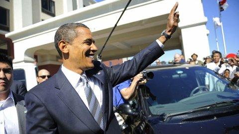TROFAST FØLGESVENN: Obama elsker sin 18 år gamle Tag Heuer-klokke.