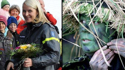 ØVELSE: Mette-Marit øver med Sivilforsvaret torsdag denne uken - kanskje hun har fått interesse gjennom Mary som nylig har tatt militær grad i det danske heimevernet?