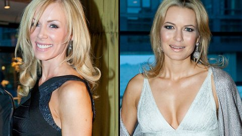 KLARE FOR FEST: Gunhild og Celina kom i kveldens mest sexy kjoler, signert Hervé Léger.