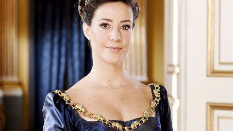 OFFISIELLE BILDER: Marie på de nye danske offisielle bildene tatt 1.januar i år, men ikke sluppet før nå. Maries mage er allerede tydelig på bildene.