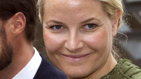 I GRØNT: Mette-Marit kler godt grønt og har brukt sin mosegrønne drakt ved flere anledninger.