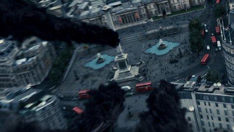 Trafalgar Square får unngjelde når dødseterne angriper London i den nye Harry Potter-filmen.