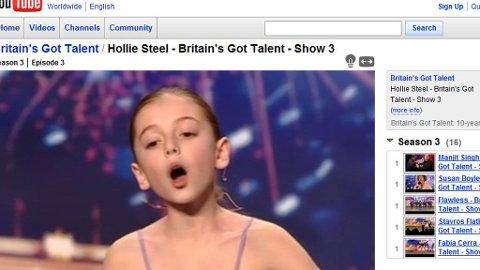IMPONERTE ALLE: 10 år gamle Hollie Steel så ikke ut til å skille seg nevneverdig ut før hun åpnet munnen på Britain's Got Talent.