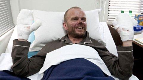 Jarle Trå i sykesengen