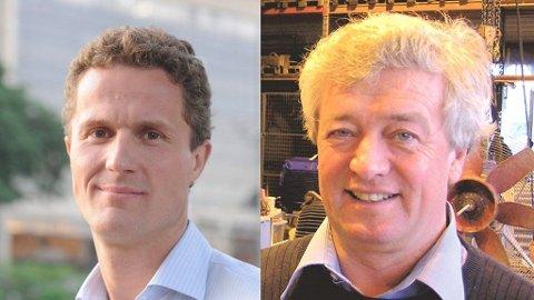 Kristian Berg Andersen (t.v.) og Karsten Moholt (58) er begge savnet etter Air France-ulykken.